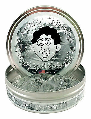 Crazy Aaron's Thinking Putty, LIQUID GLASS, Crystal Clear, 10cm Tin