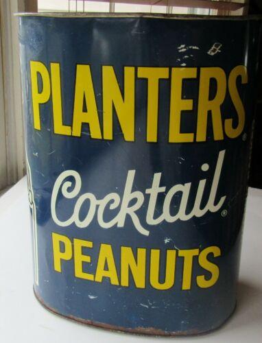 Mr Peanut Vintage Trash/Garbage  Can