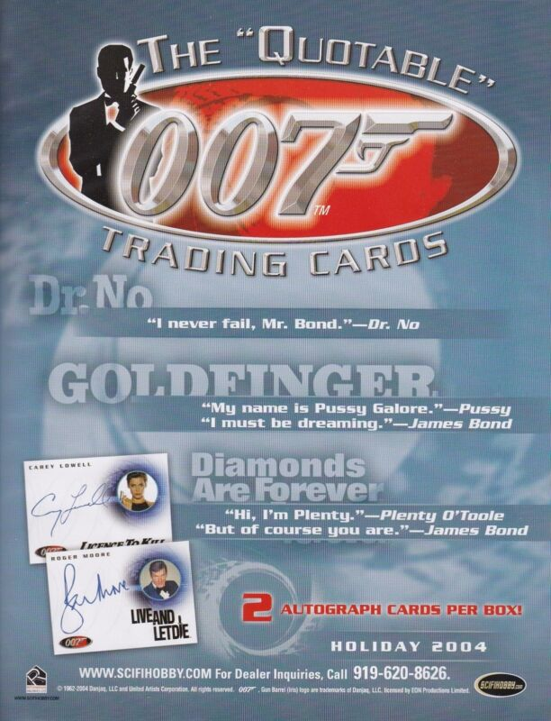 James Bond Quotable Master Set Autographs Costume Rare Inserts Case Incentives++