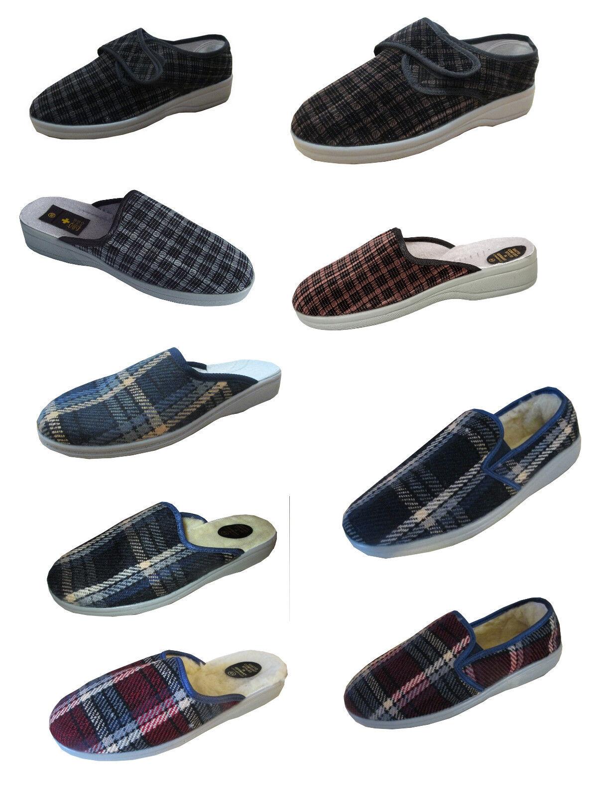 Herren Pantoffeln Hausschuhe Schlappen Latschen neu Winter warm Pusche Gr.40-46