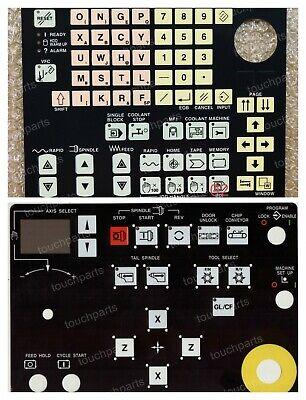 Set Of 2 Pieces Keypad Membrane For Mazak Mazatrol Qt 640t Nexus 350m Cnc Lathe