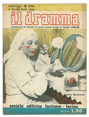 IL DRAMMA N 278 1938 DORA MENICHELLI FEDERICO LONSDALE MORTE GABRIELE D'ANNUNZIO