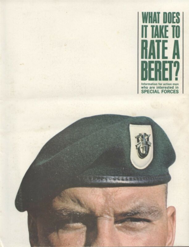 U.S. Army Military Special Forces 1962 Green Berets Recruiting Brochure Vietnam!
