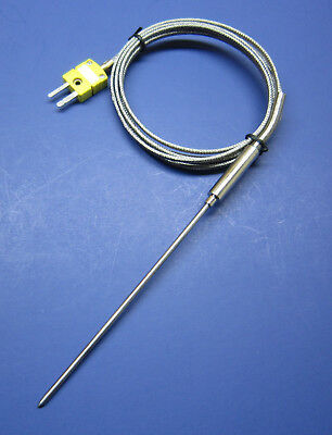 K-type Thermocouple Sensor High Temperature Stainless Steel Insertion Probe Ht01