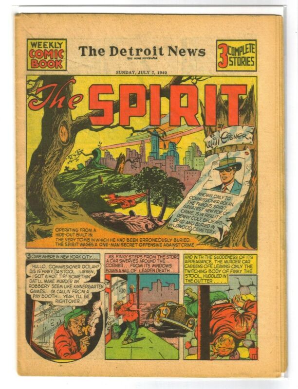 THE SPIRIT 7/7/1940 (#6) Golden Age Newspaper Comic Book Section ~ VG