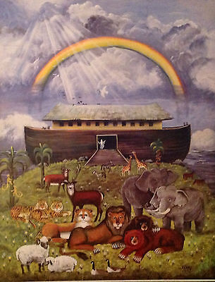 Noah's Ark Print. Great Decor for Nursery, Daycare, Sunday School. Open Edition](Noah's Ark Decorations)