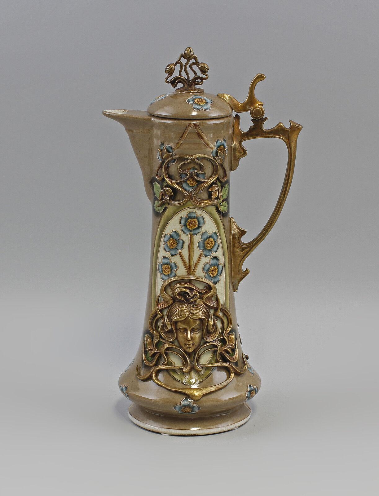Bronzo Ceramica Brocca Stile Liberty Nuovo 9973073 -  - ebay.it
