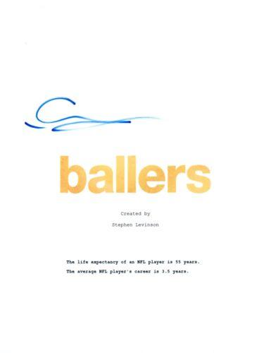 Omar Benson-Miller Signed Autographed BALLERS Pilot Episode Script COA