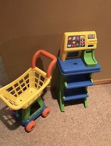 Play cash register and shopping cart