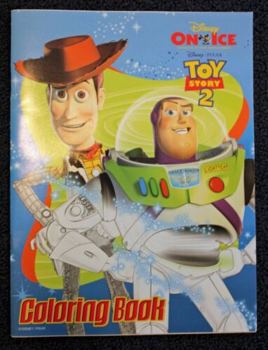 """Toy Story 2 Rare Disney On Ice 9"""" x 12"""" Coloring Book!"""