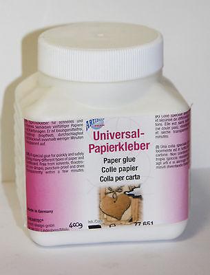 Papierkleber 400g Universal Kleber Basteln papier Pappe tropffest 77651 (E1)