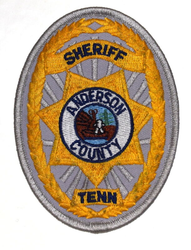 ANDERSON COUNTY TENNESSEE TN Sheriff Police Patch COUNTY SEAL BOAT RIVER USED ~