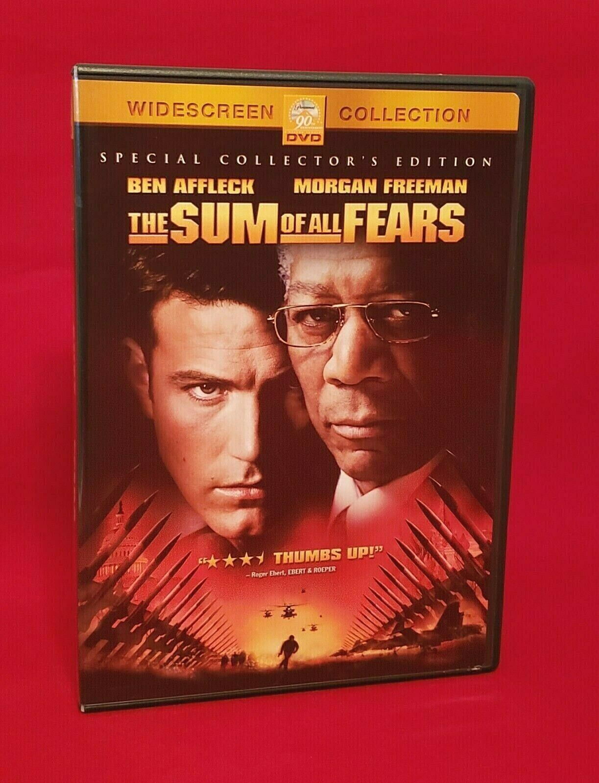 The Sum of All Fears (DVD, 2002) Drama Suspense Action Adventure