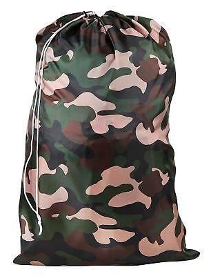 Heavy Duty Nylon Laundry Bag CAMOUFLAGE DESIGN-College Dorms-Locking Drawstring