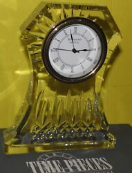 Waterford Crystal LISMORE Large Clock Desk Mantle 6.5 in Box 107753