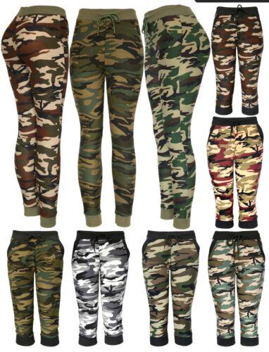 Womens Army Joggers Pants Casual Sweatpants Full And Capri Length