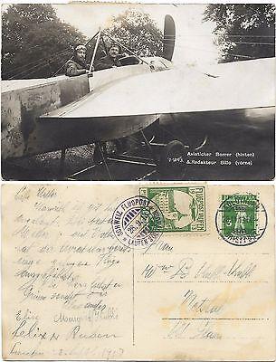 Schweiz Laufen-Solothurn 1913 Borrer Pionier Flugpostmarke Stempel AK Porret 654