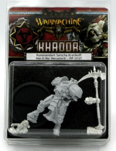 Warmachine PIP33127 Kommandant Sorscha Kratikoff Man-O-War Warcaster (Khador)