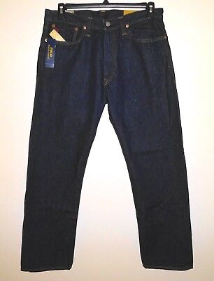 POLO Ralph Lauren Mens Jeans * Thompson Relaxed Fit Dark Indigo Size 33x32 - NWT ()