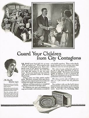 1920's BIG Old Vintage Lifebuoy Soap Art Print Ad