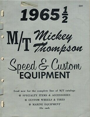 Mickey Thompson 1965 ½  Vintage Speed & Custom Equipment Catalog 52pg CD Rom PDF
