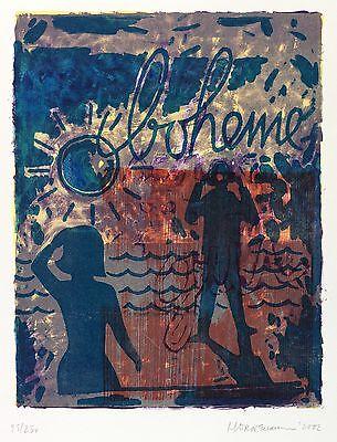 THOMAS HORNEMANN - BOHEME - Farblithografie & Holzschnitt 2002