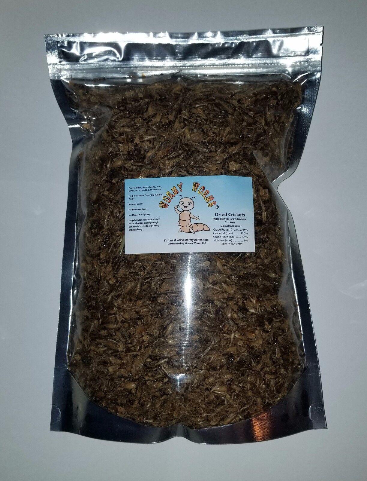 3.5 Lb Dried Crickets For Sugar Glider Hedgehog Hamster R...