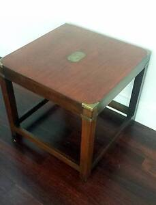 Small timber coffee table w brass trim Lilyfield Leichhardt Area Preview