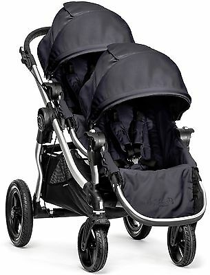 Baby Jogger City Select Twin Tandem Double Stroller Titanium w Second Seat NEW