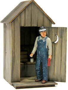 BANTA-MODELWORKS-THE-OUTHOUSE-F-G-1-20-3-Model-Railroad-Structure-Kit-BM8021
