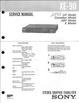 Sony Original Service Manual  für XE-90