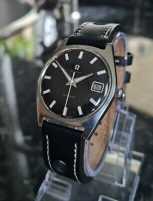 Gents Omega Geneve Calendar Watch with Black Dial