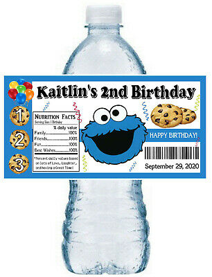 Cookie Monster Party (20 COOKIE MONSTER SESAME STREET BIRTHDAY PARTY FAVORS ~ WATER BOTTLE)
