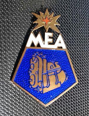Union Werk MEA GmbH AEG Brosche emailliert 26x37mm gest Preissler alt+original