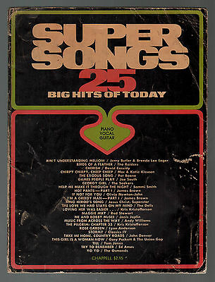 Super Songs 25 Big Hits of Today Sheet Music