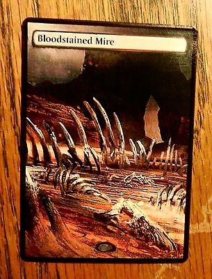Magic the Gathering Fetch Land Mtg Altered Art Bloodstained Mire