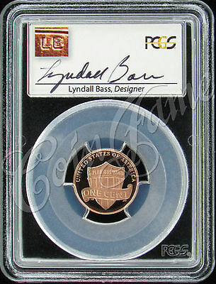 2013 S Lincoln Shield 1c PCGS PR70RD DCAM Lyndall Bass Autograph Label on Rummage