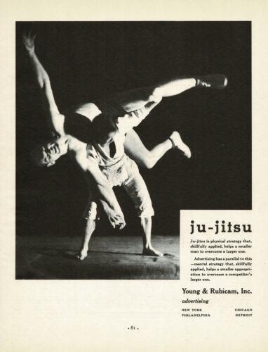 1930s BIG Original Vintage Jujutsu Japanese Martial Arts Jujitsu Photo Print Ad