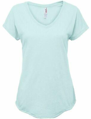 Anvil Womens Tri-Blend V-Neck Mint Green T-Shirt Fashion Tee Ladies Size M ~ NEW Fashion Tri Blend T-shirt