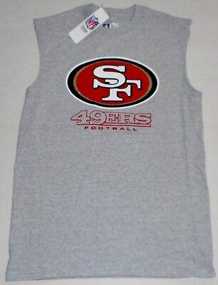 SAN FRANCISCO 49ers NFL TEAM APPAREL MUSCLE T SHIRT TANK TOP MENS M L XL 2X GRAY (Nfl Team T-shirt)