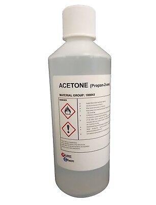 Acetone 99.8% - Gel Polish Remover UV LED Nail Polish Cleaner Manicure 250ml