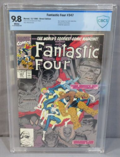 FANTASTIC FOUR #347 (New Team Spider-Man, Hulk) CBCS 9.8 Marvel Comics 1990 cgc