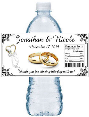 20 PERSONALIZED WEDDING ANNIVERSARY FAVORS WATER BOTTLE LABELS - Wedding Anniversary Favors