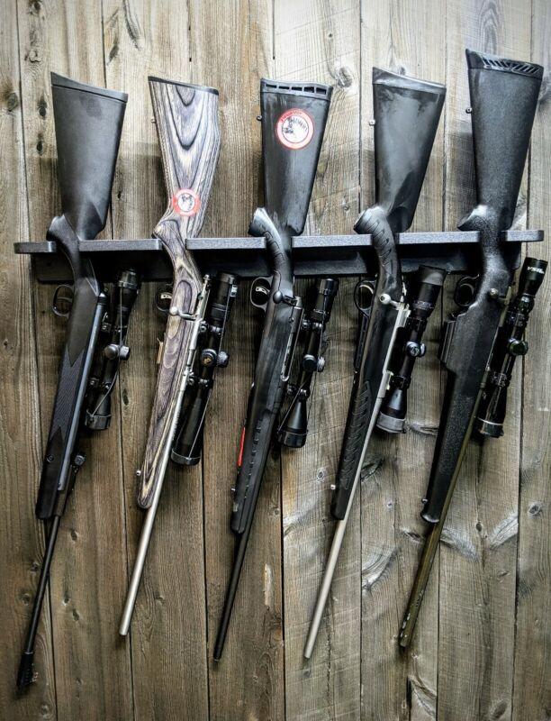 CLOSET GUN RACK TACTICAL HOSTLER 5 LONG GUN RIFLE GUNSAFE SEMI AUTOMATIC