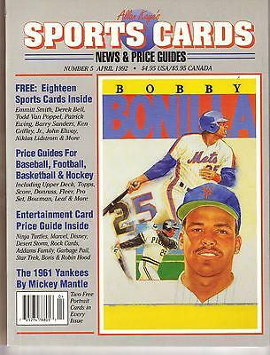 Allan Kayes Sports Cards News   Price Guides Magazine April 1992