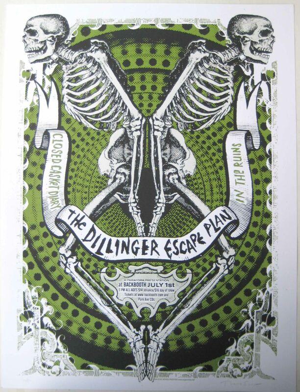 The Dillinger Escape Plan Concert Poster 2006 Thomas Scott