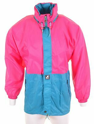 K-WAY Mens Waterproof Jacket Size 38 Medium Pink Vintage IX01