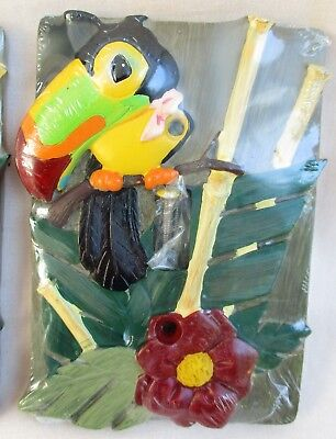 Tropical Bird 3D  Wall Switch Plate Cover Borders Unlimited