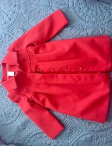 Girls red fancy dress coat. Great for Christmas.