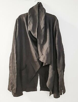 ISABEL BENENATO uber cool drape jacket size XL NEW tags made in Italy rrp $1665